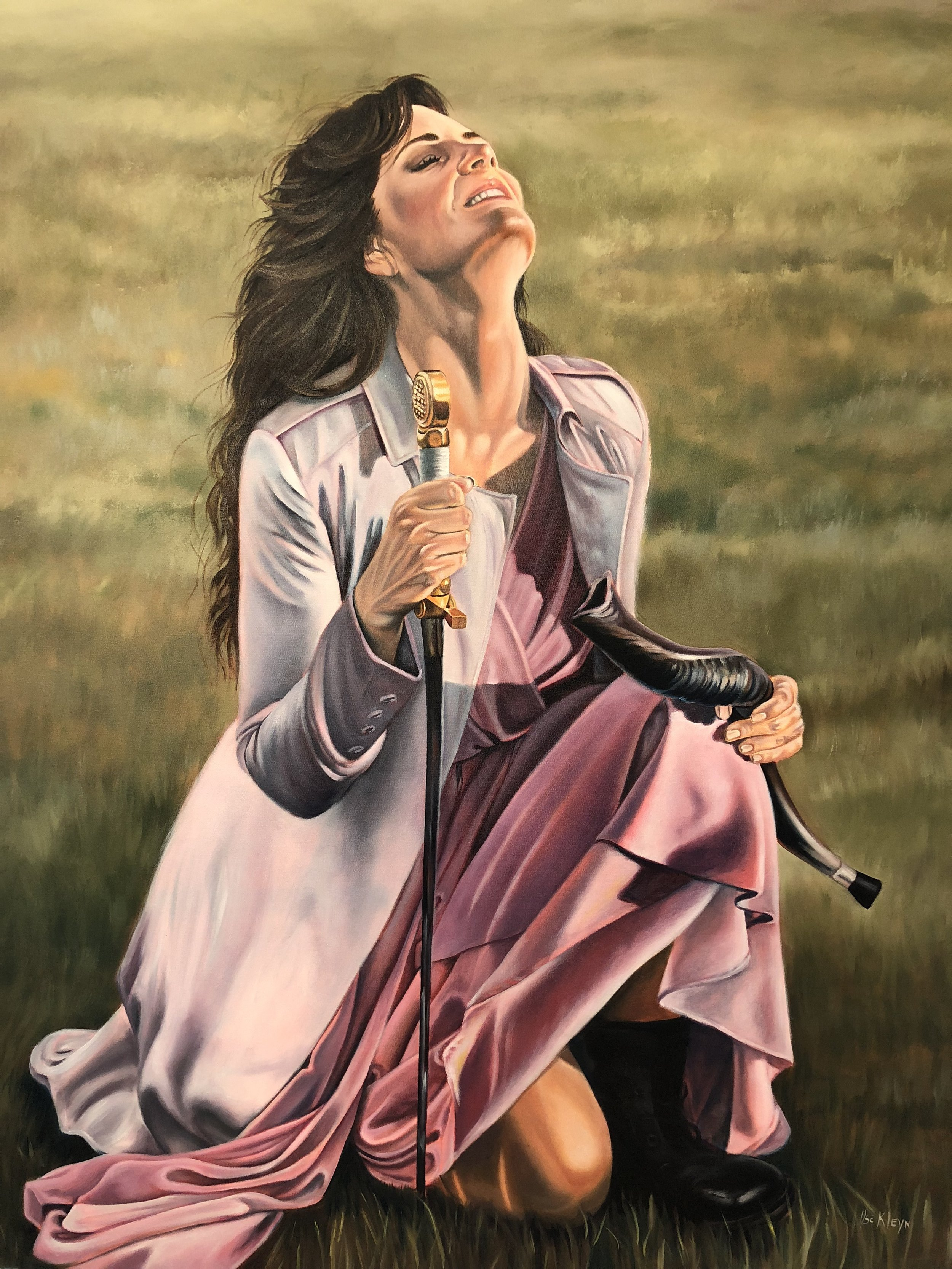 """""""It's Time"""" painting gifted to me on Monday evening by South African artist -  Ilse Kleyn .  Scripture reference: Isaiah 60:1 """"Arise and shine, for your light has come, and the Glory of the Lord has risen upon you!""""  You will see the significance of this once you have read my full blog post."""
