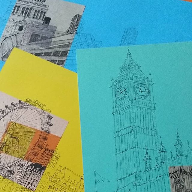 Sneak preview of a new range of London drawings. Soon to be exhibited in the cafe at Bristol Folk House www.bristolfolkhouse.co.uk