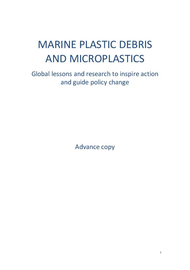 Marine PLastic Debris and Microplastics: Global Lessons and Research to Inspire Action and Guide Policy Change - United Nations Environment | 2016