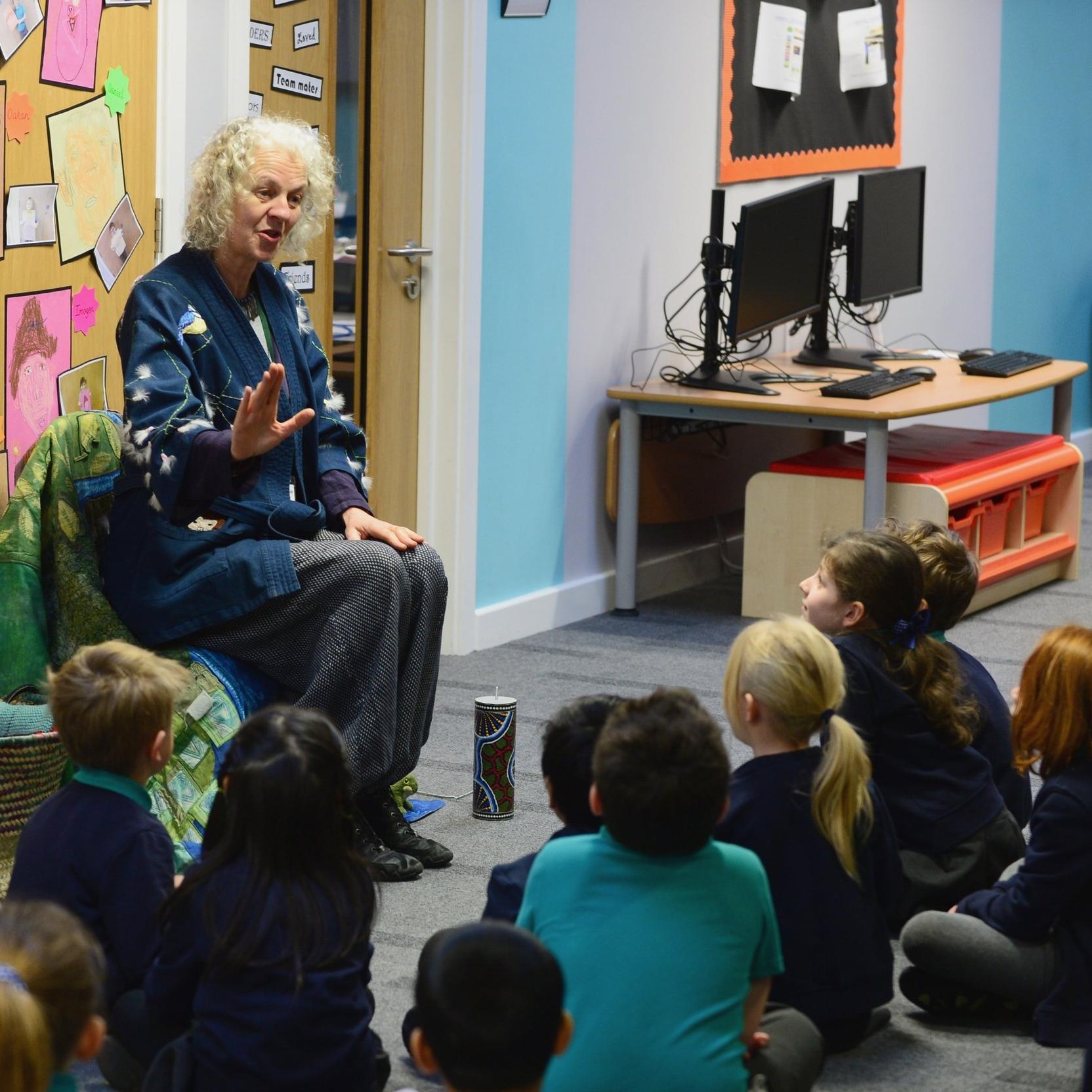 SGB_3258 - Marion Leeper telling stories to the Pathfinder School pupils....jpg