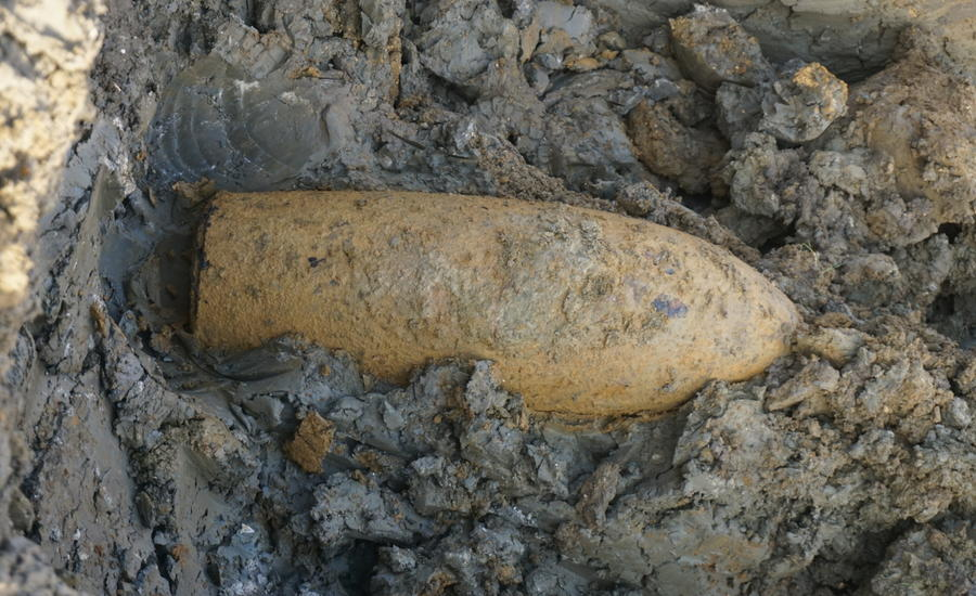 One of the WWII bombs found at Oakington Barracks