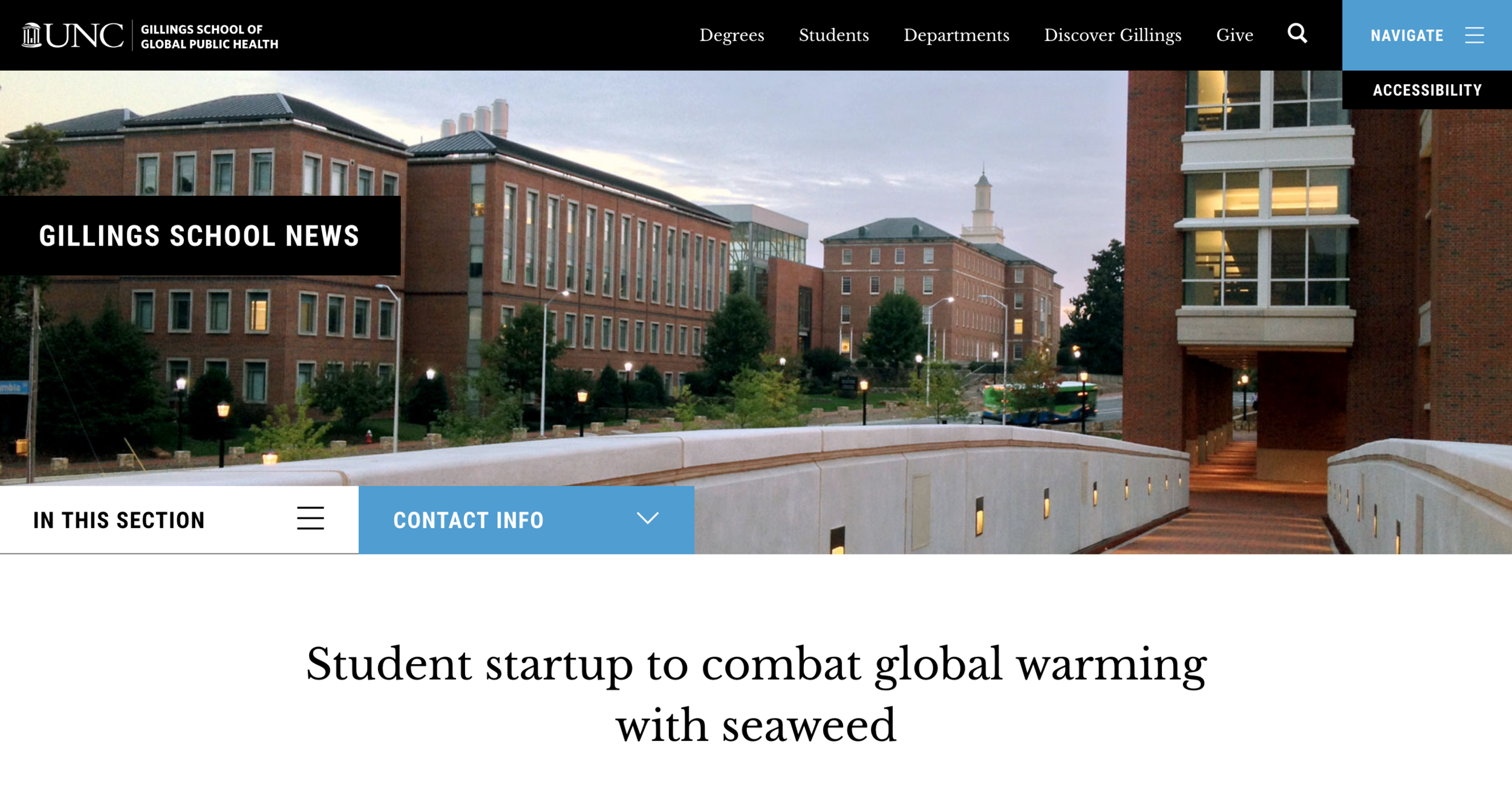 GILLINGS SCHOOL OF PUBLIC HEALTH   Phyta is honored to have been recognized by the  Gillings School of Global Public Health  for our work with the Hult Prize and vision to commercialize sustainable seaweed cultivation.