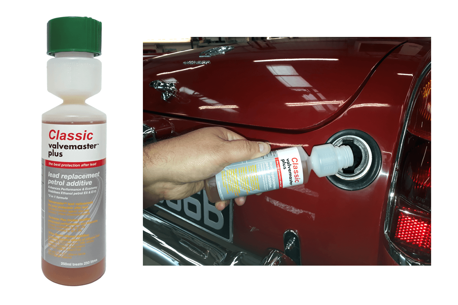 Valvemaster Plus being added to fuel tank
