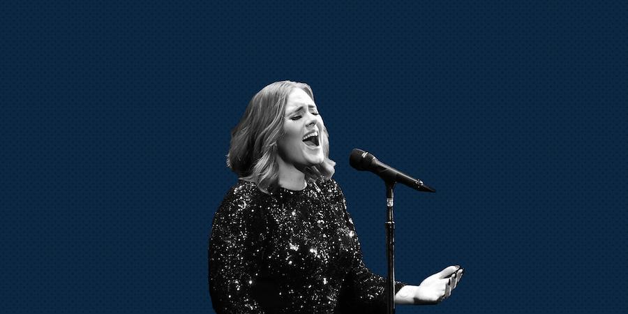 Skinny Adele singing in 2019