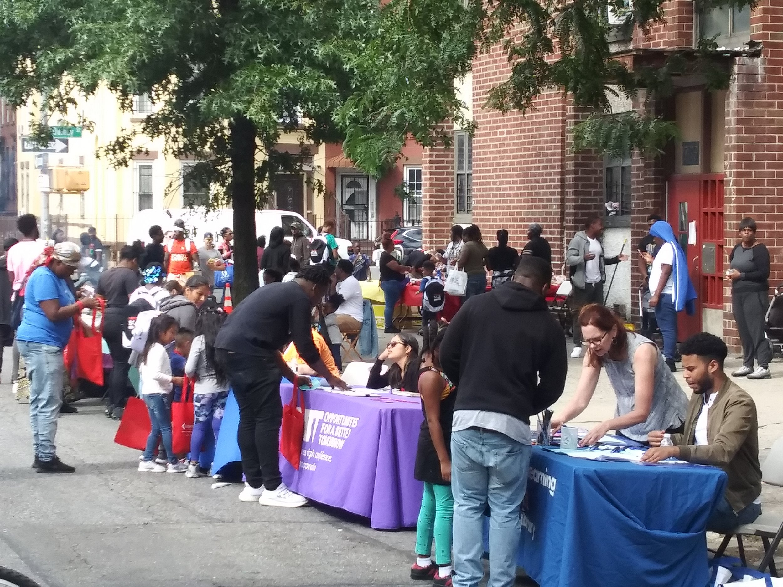 """""""Together We Can, Together We Will, Together We Must!"""" - Be Involved! Youth Potential Academy present at NIA/SOS Bed-Stuy Back To School Block Party. Thanks to all community partner's who came out in support of our community and youth."""