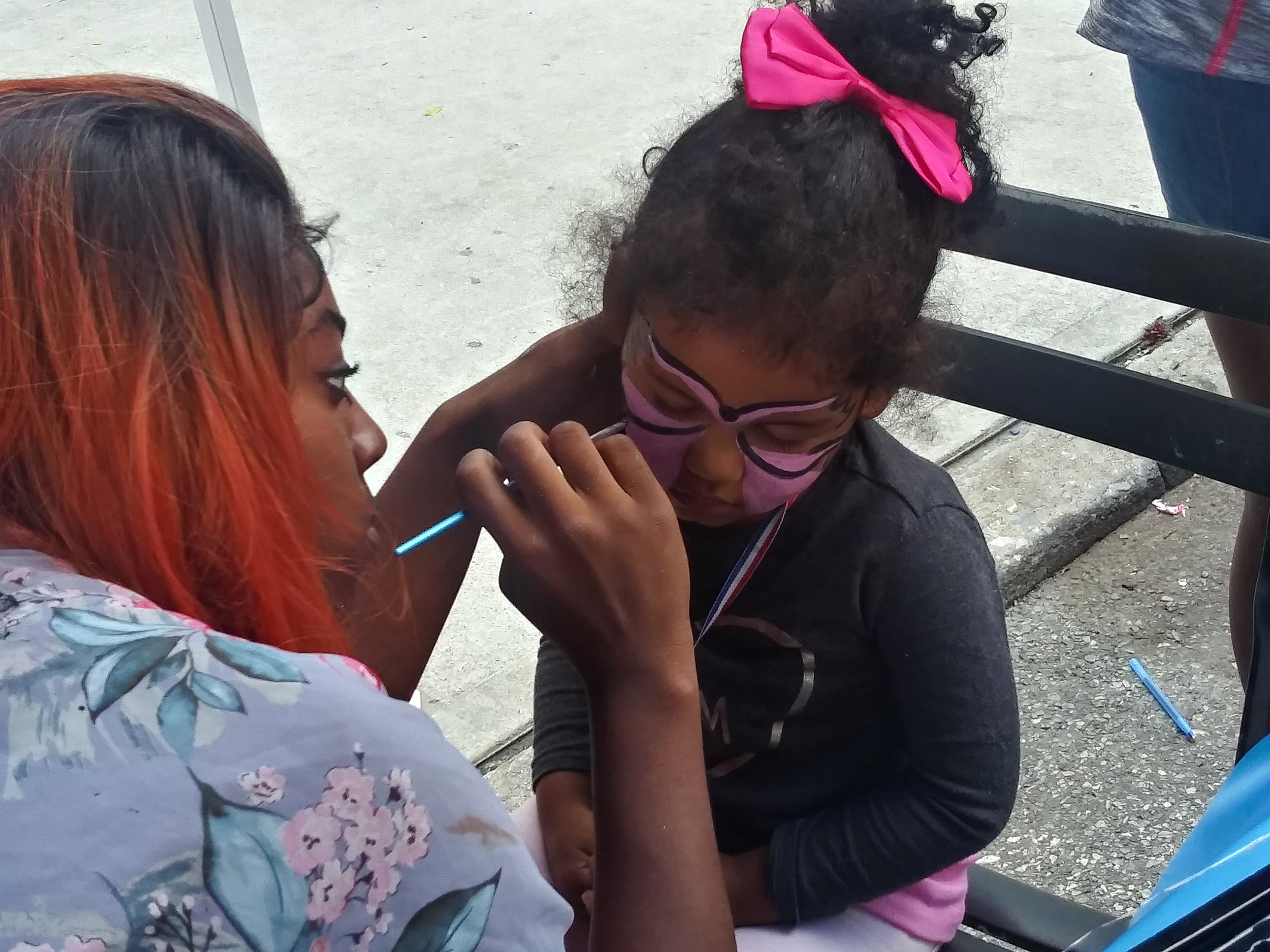"""Thanks to Brianna Bey for helping Youth Potential Academy with face painting. Our youth really enjoyed their faces... """"Together We Can, Together We Will, Together We Must!"""" - Be Involved!"""