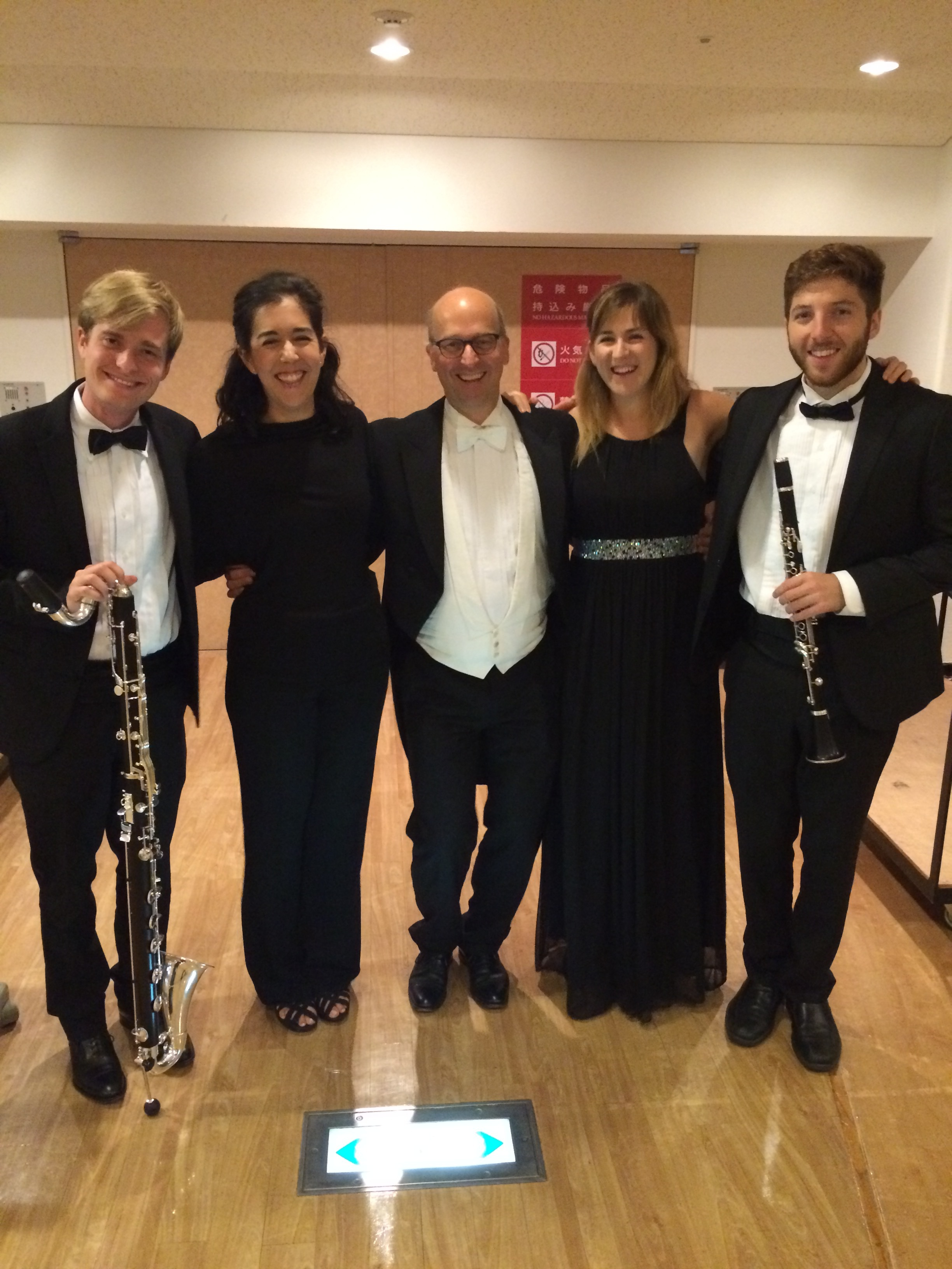 Pacific Music Festival 2017, clarinet section with European faculty member Alex Bader (Berlin Philharmonic)