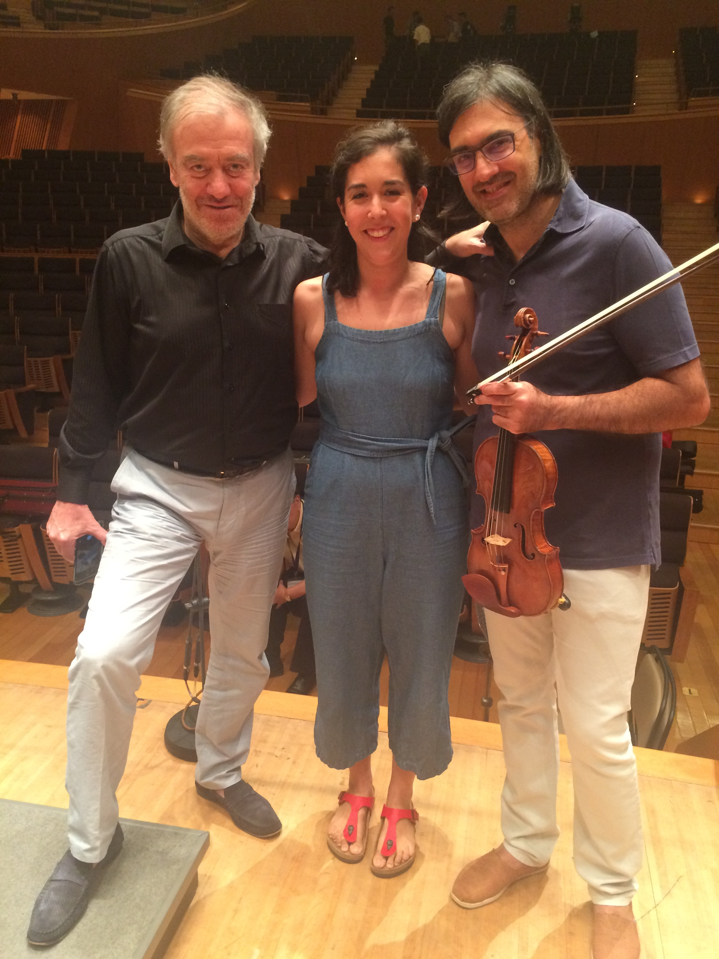 Pacific Music Festival 2017, with conductor Valery Gergiev and soloist Leonidas Kavakos after a rehearsal of Brahms Violin Concerto
