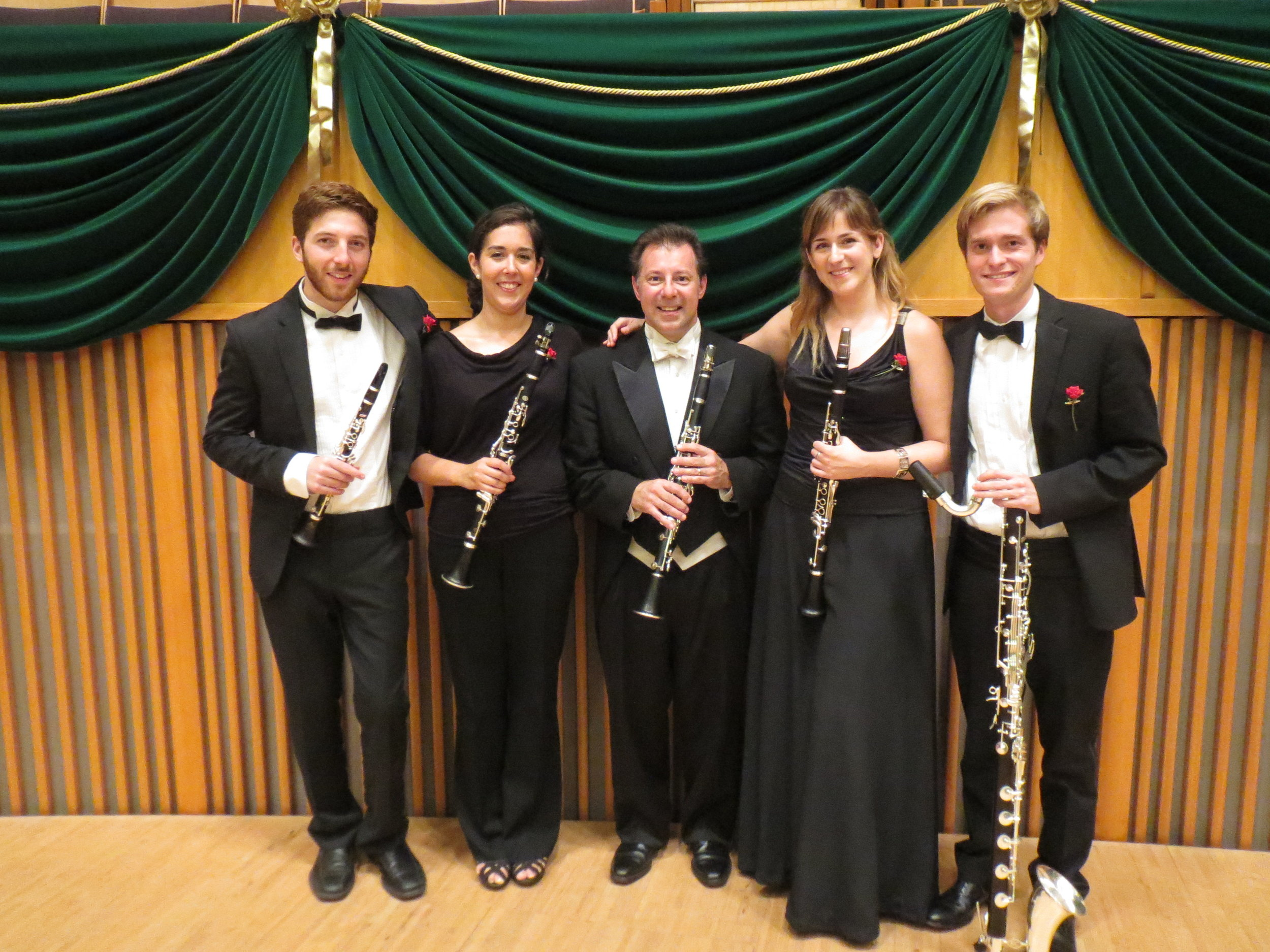 Pacific Music Festival 2017, clarinet section with American faculty member Stephen Williamson (Chicago Symphony Orchestra)