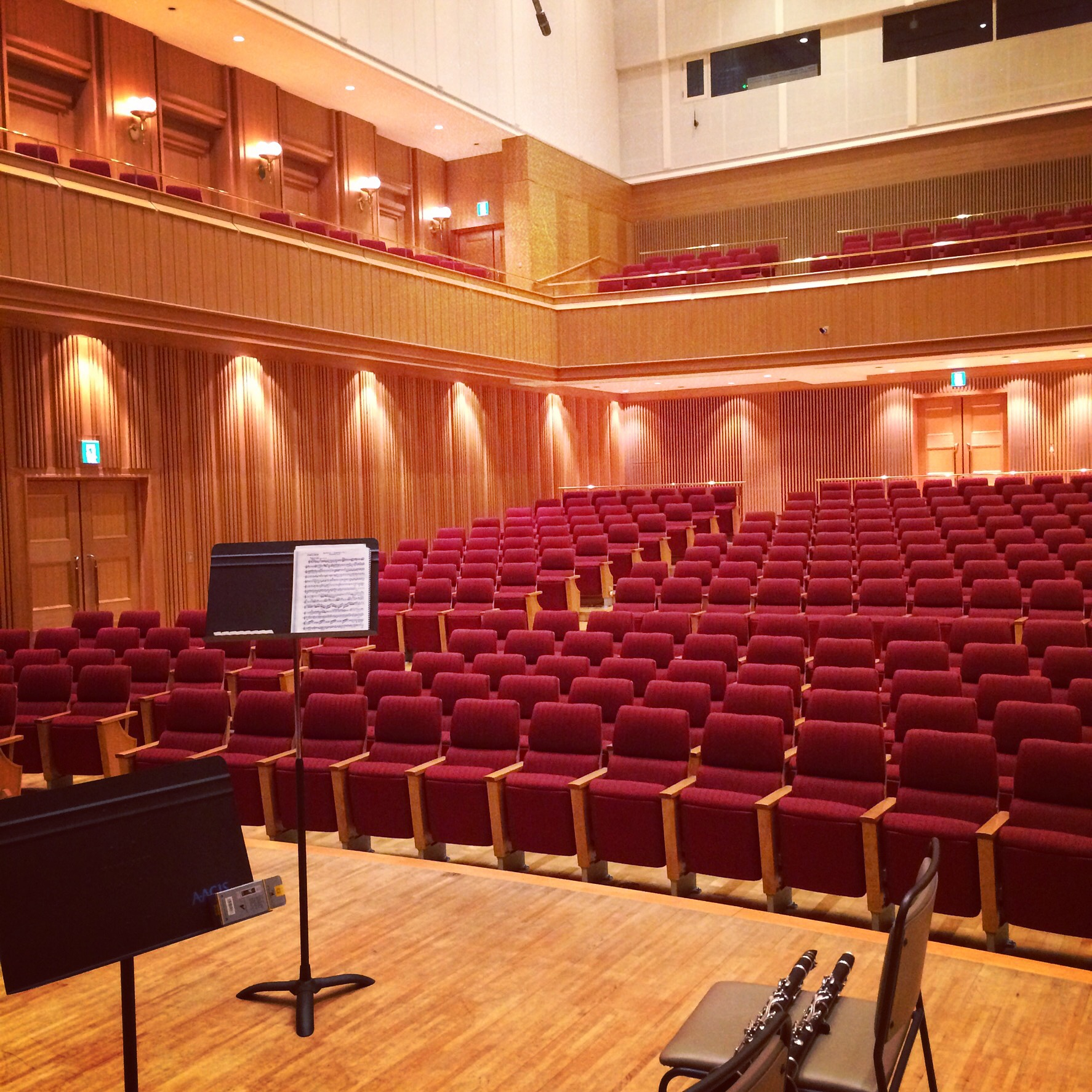 A morning practice session at Pacific Music Festival, Small Hall at Sapporo Kitara Concert Hall (Sapporo, Japan)