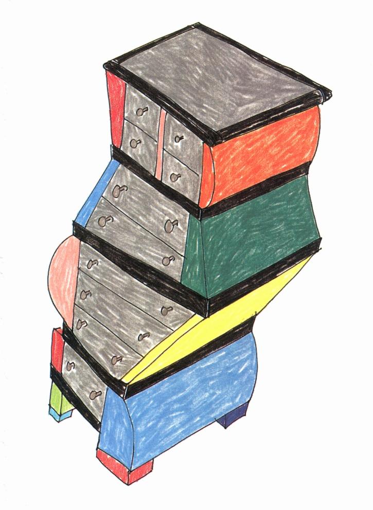 Sketches, furniture, 1990