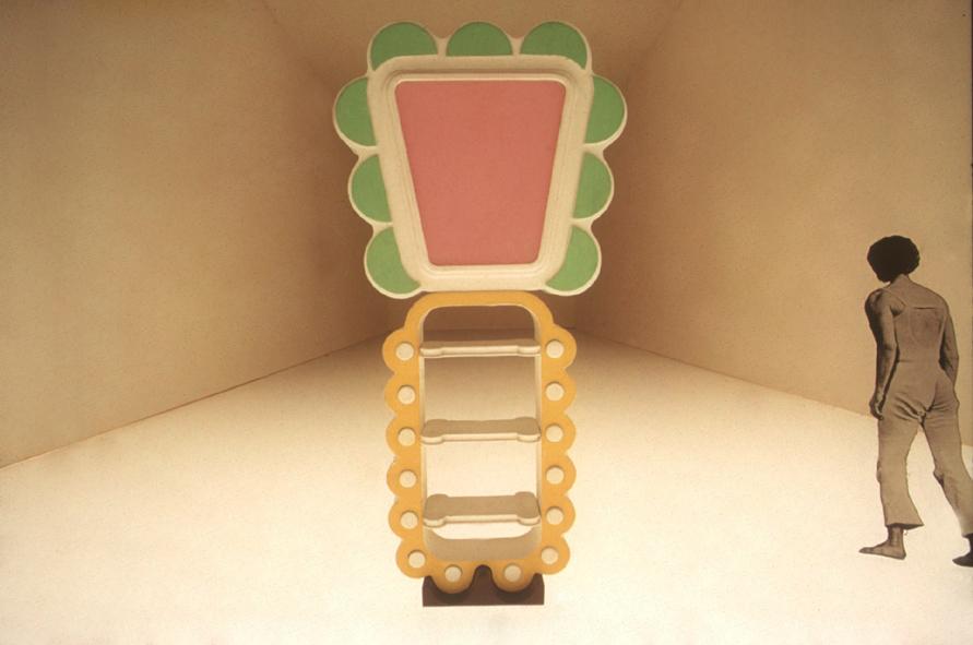 "Bookshelf. Exhibition ""Superfizie Neutra"", 1972"