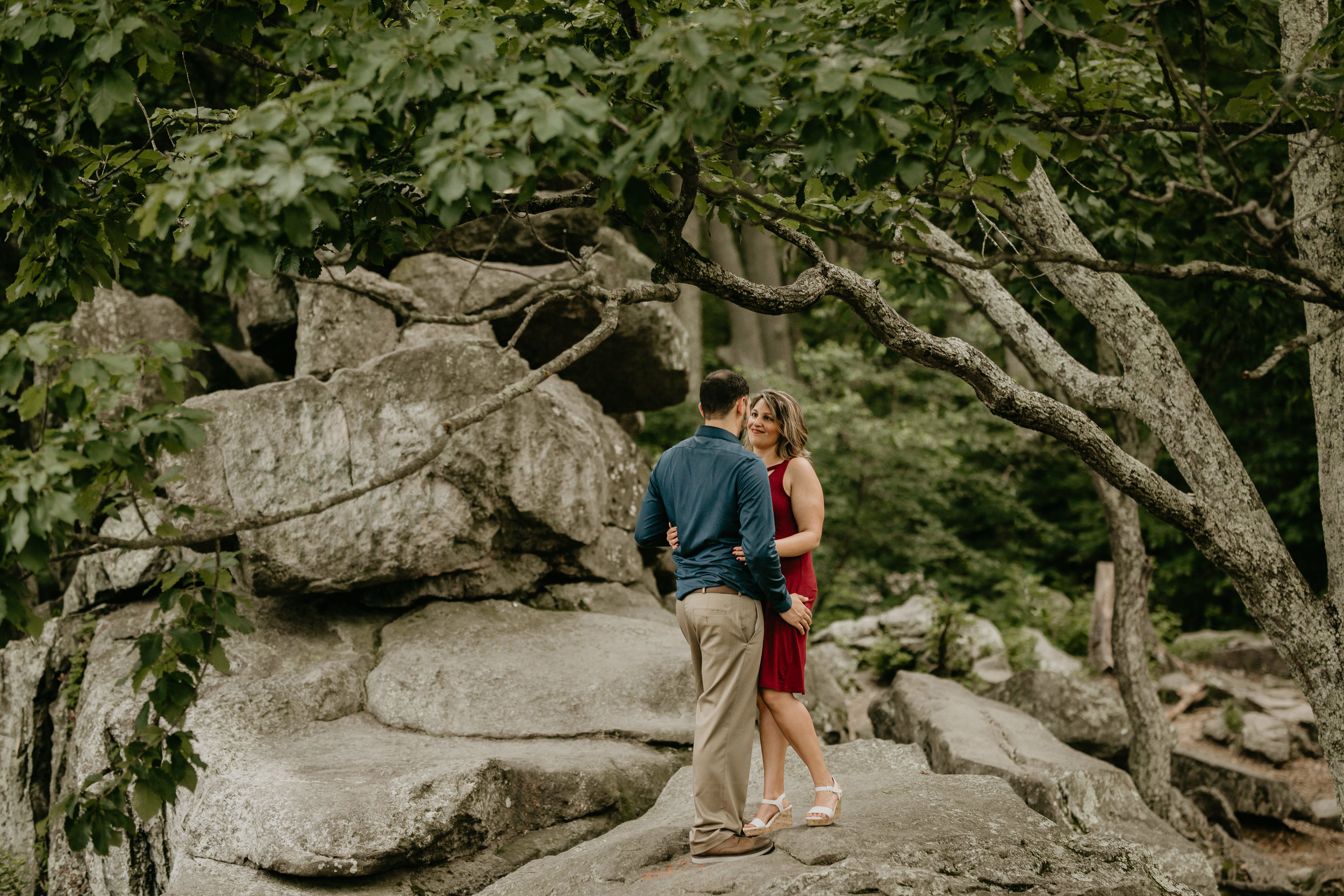 Nicole-Daacke-Photography-rock-state-park-overlook-king-queen-seat-maryland-hiking-adventure-engagement-session-photos-portraits-summer-bel-air-dog-engagement-session-18.jpg