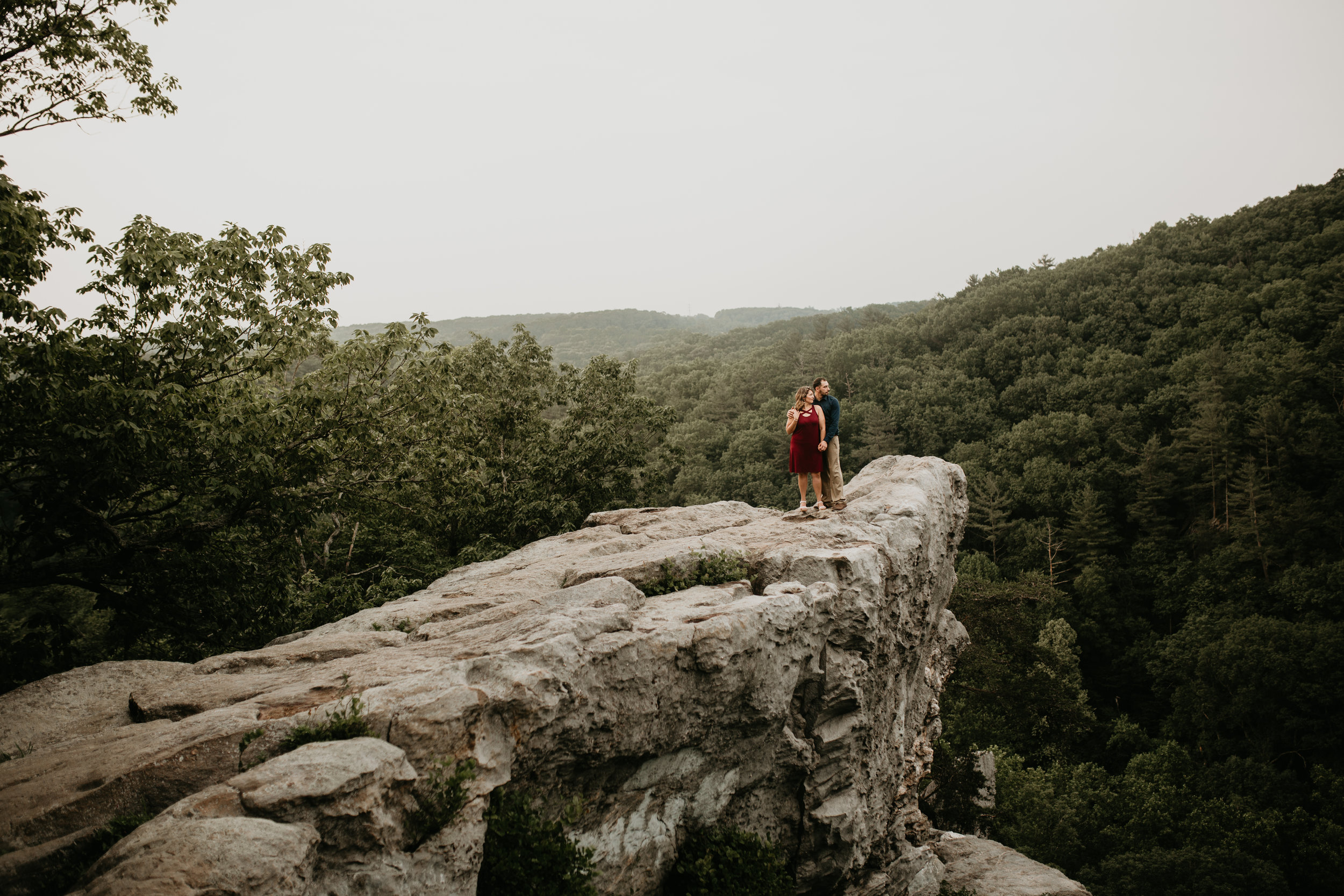 Nicole-Daacke-Photography-rock-state-park-overlook-king-queen-seat-maryland-hiking-adventure-engagement-session-photos-portraits-summer-bel-air-dog-engagement-session-24.jpg