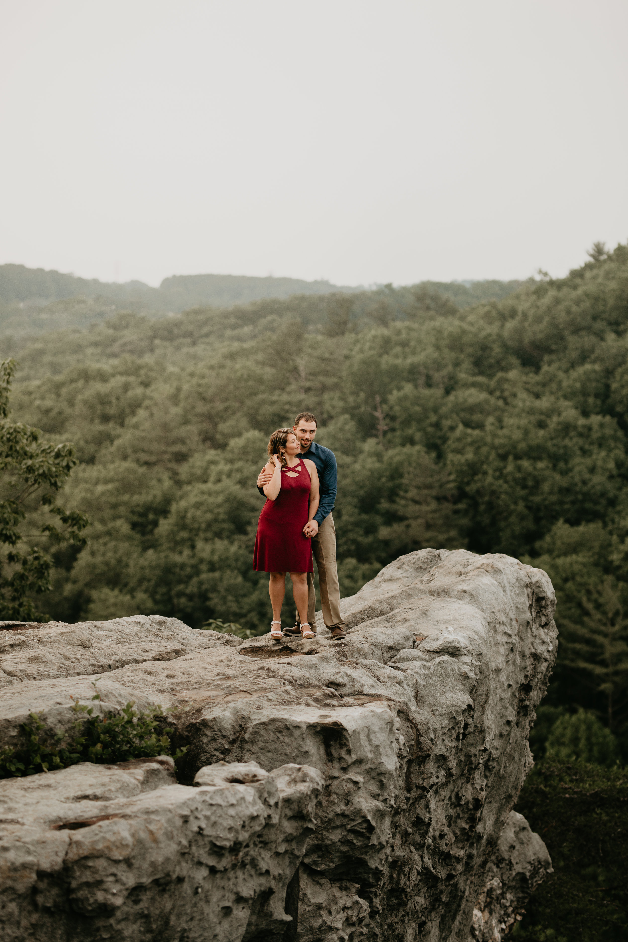Nicole-Daacke-Photography-rock-state-park-overlook-king-queen-seat-maryland-hiking-adventure-engagement-session-photos-portraits-summer-bel-air-dog-engagement-session-26.jpg