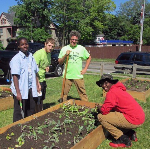 Keep Rochester Students Blooming - School gardens are an amazing way for students to interact with the natural world. At World of Inquiry School #58, the Griffin Garden links classroom instruction and hands-on learning and grows something beautiful.Just as a seed needs nourishment to sprout and grow, the garden is in need of support to install a water spigot. Currently, water is gathered in rain barrels but it isn't enough to meet their needs. Consider supporting the Griffin Garden and keep Rochester students blooming!