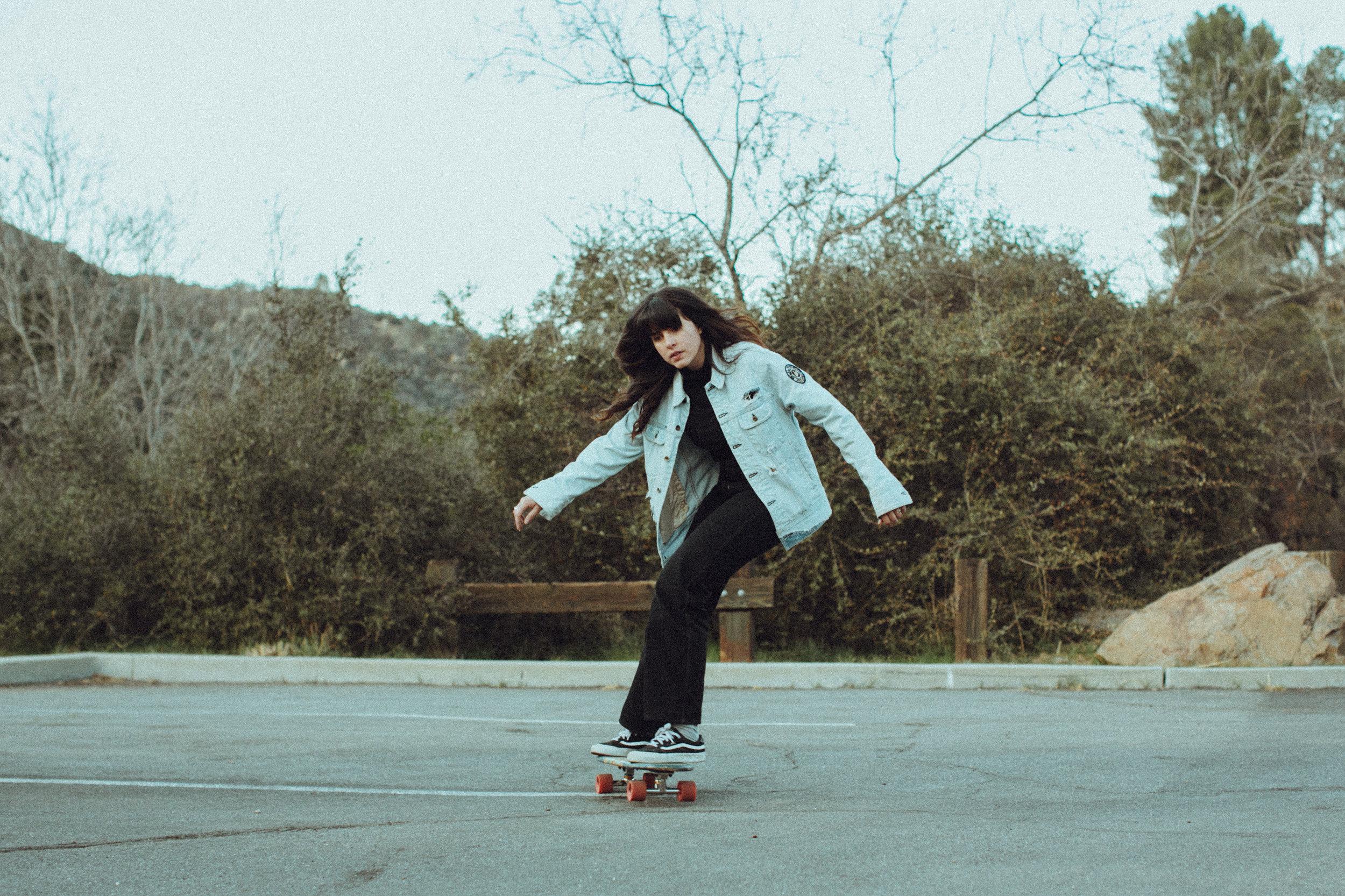 Skateboard in Topanga Canyon // Laura Goldenberger