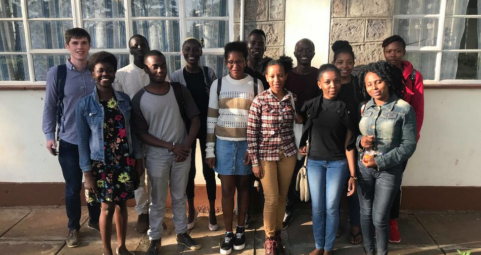 Members of the Kite Oxford and the Kite Nairobi committee with some of the first mentors recruited.