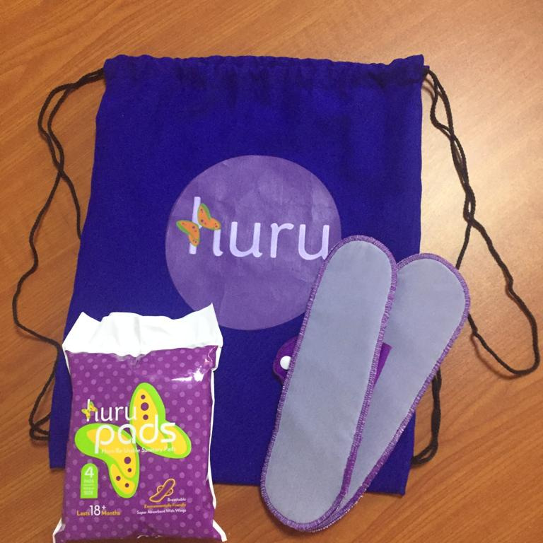 Reusable pads produced by Huru International