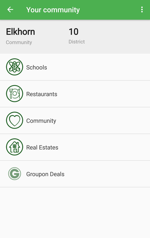 The Burbs app Elkhorn Screen