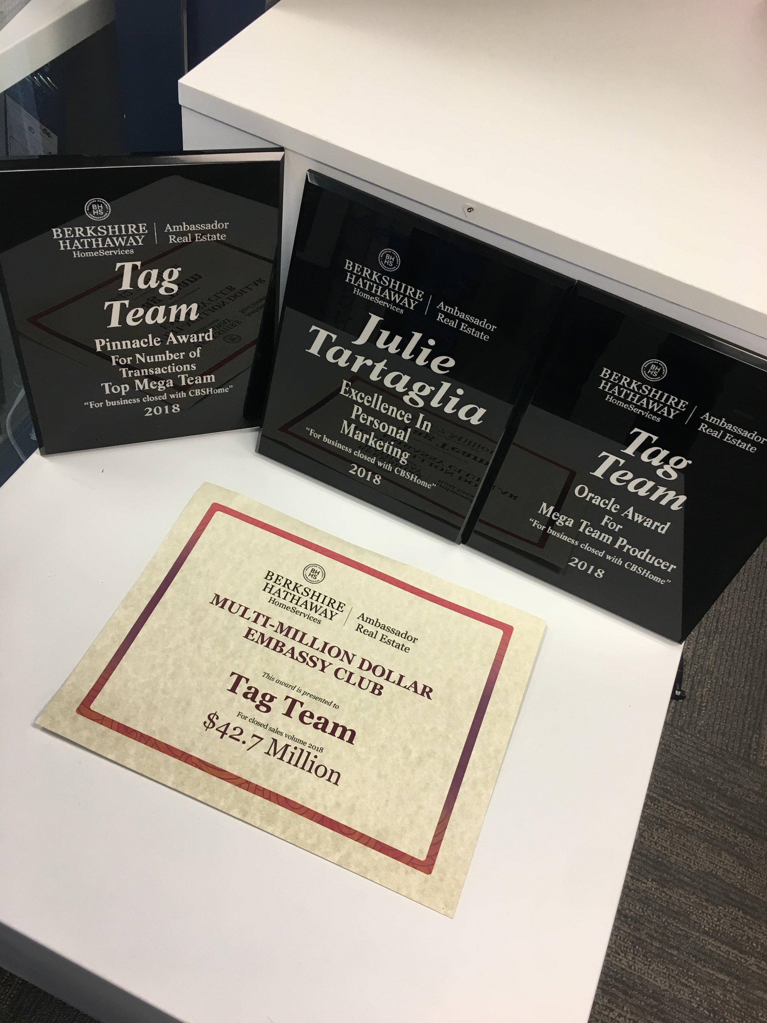 Tag Team Real Estate Awards