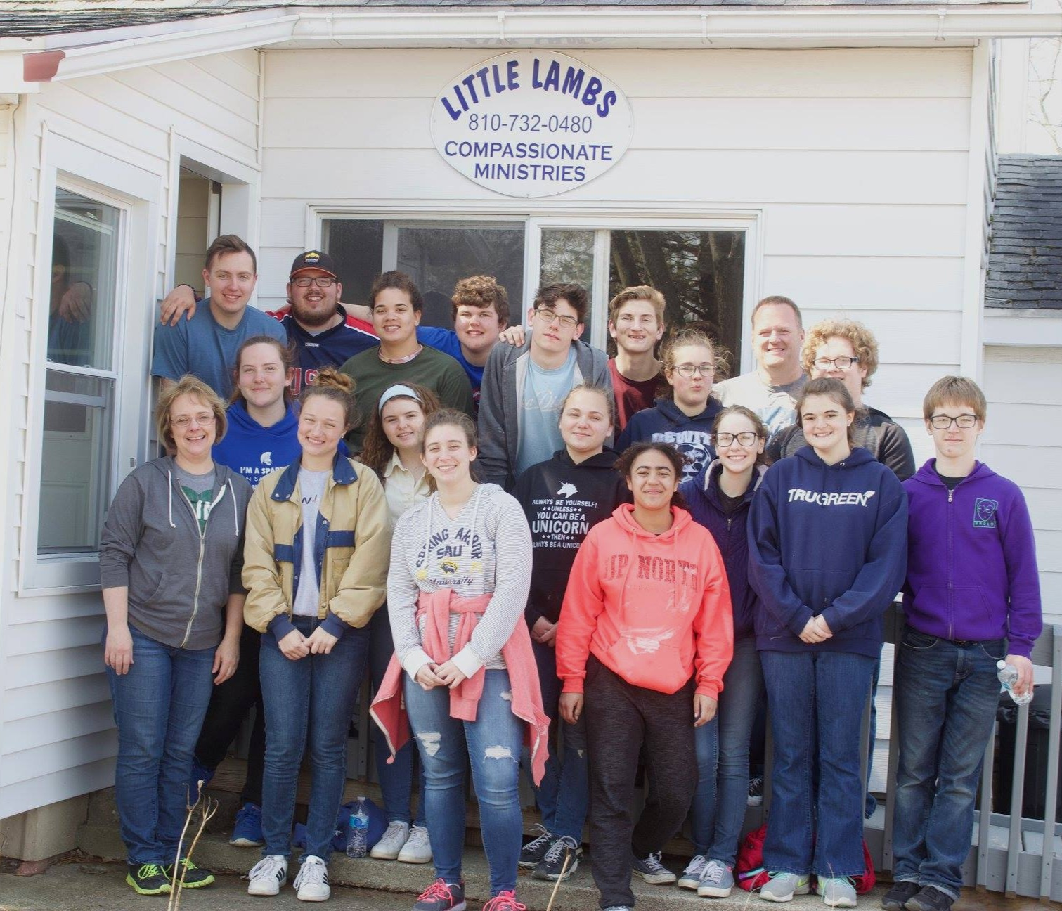 Groups who volunteer are an important part of our family. A perfect setting for a youth group to spend a day or a week!