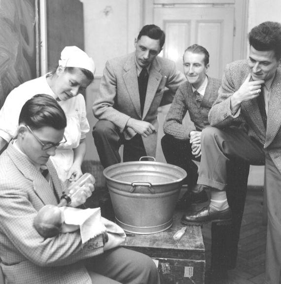 Säuglingskurs für Männer, um 1953 | Walter Studer