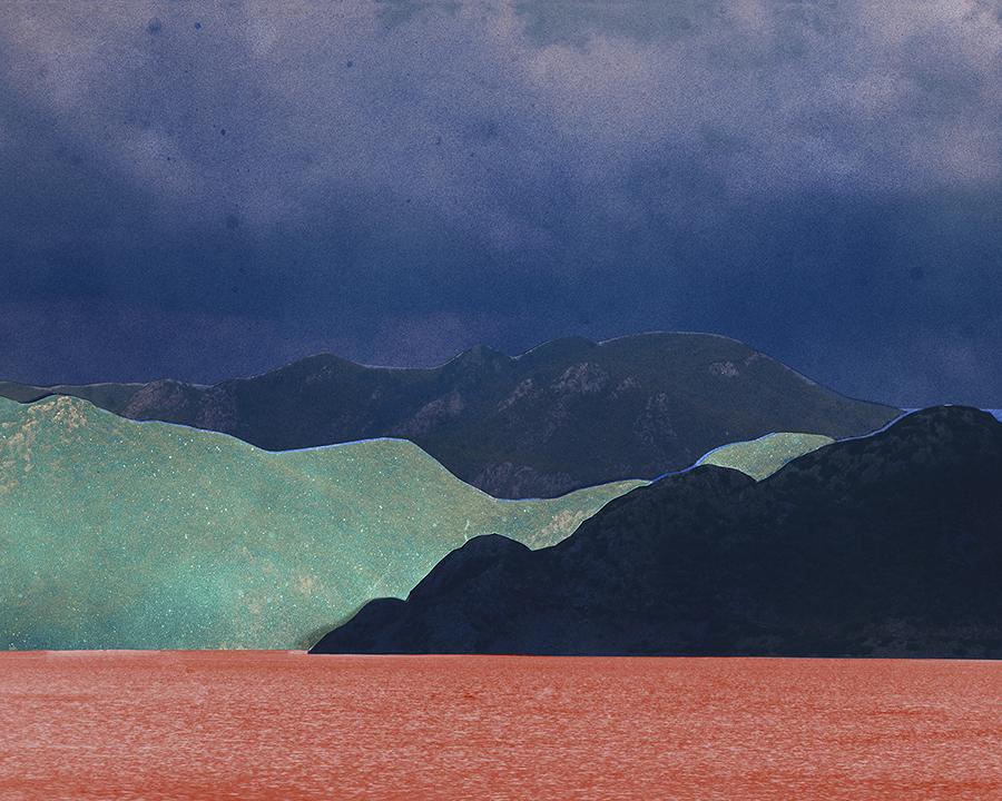 Douglas Mandry, Unseen Sights, Mountain Pass VIII, 2017, Airbrush on C-Print, 60 x 80 cm, Edition 5 & 1 AP