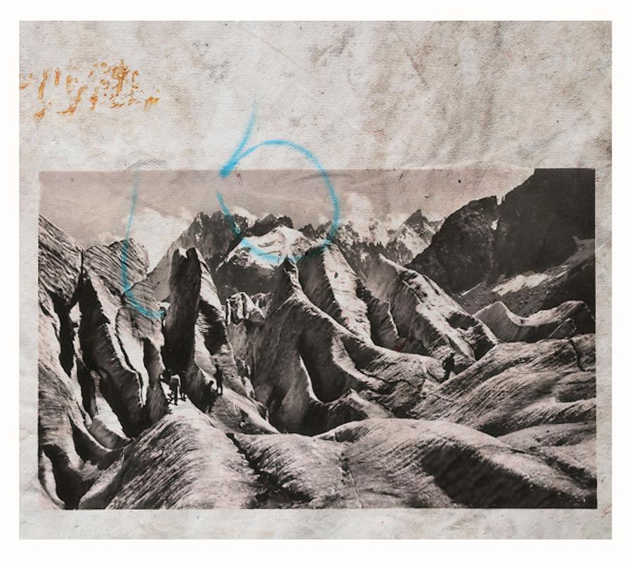 Douglas Mandry, Monument II, 2018, Lithography on Geotextile (glacier blanket), 114 x 130 cm, unique piece