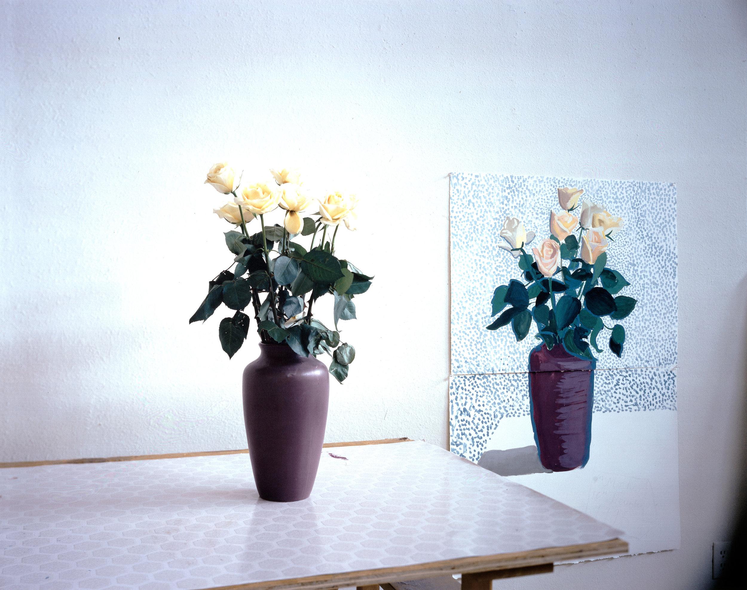 David Hockney, Roses for Mother, 1995 © David Hockney. Courtesy Galerie Kaess-Weiss, Albstadt