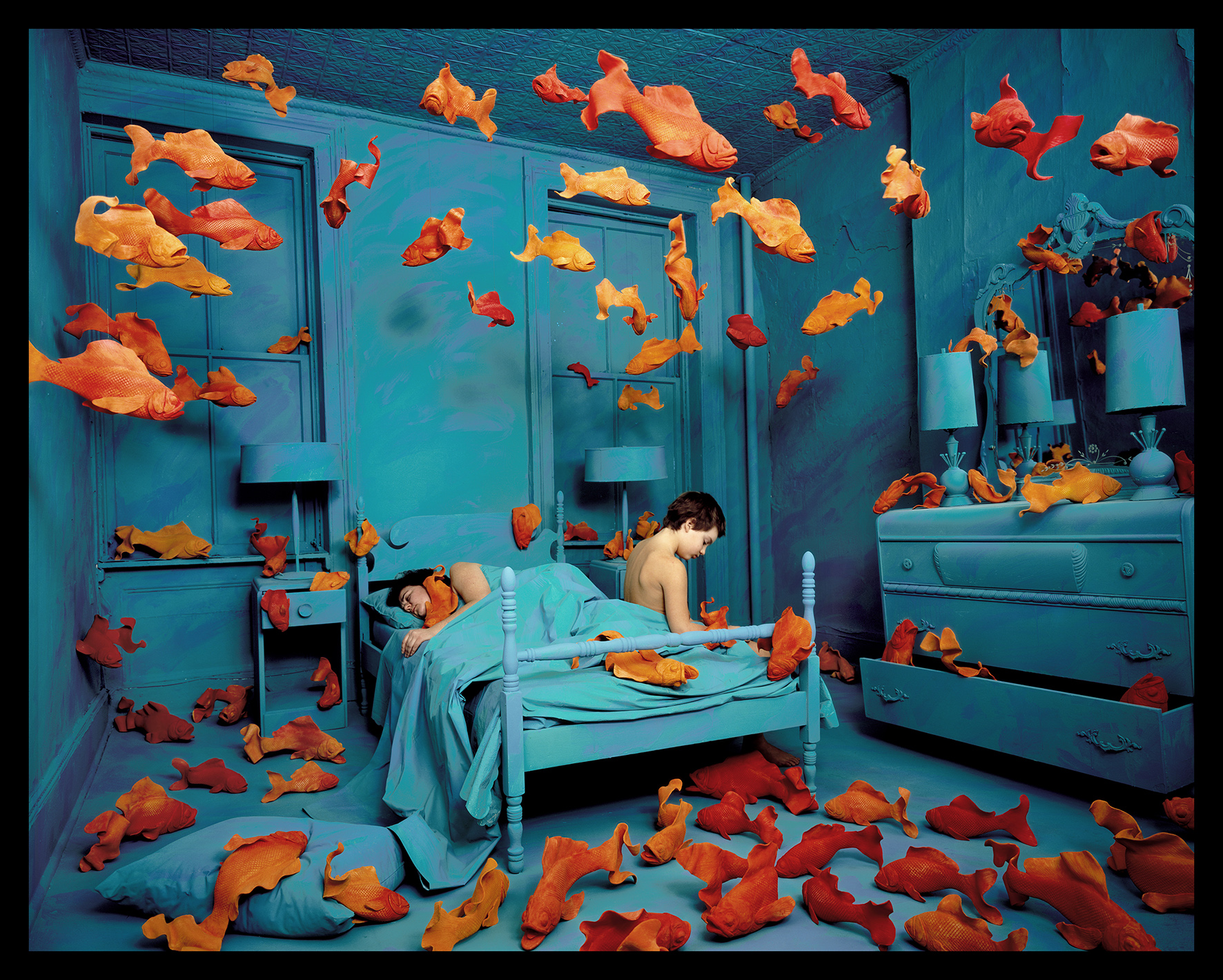Revenge of the goldfish, 1981 color photograph approx. image size cm 68.75 x 87.5 ca. Courtesy: Paci contemporary gallery (Brescia – Porto Cervo, IT)