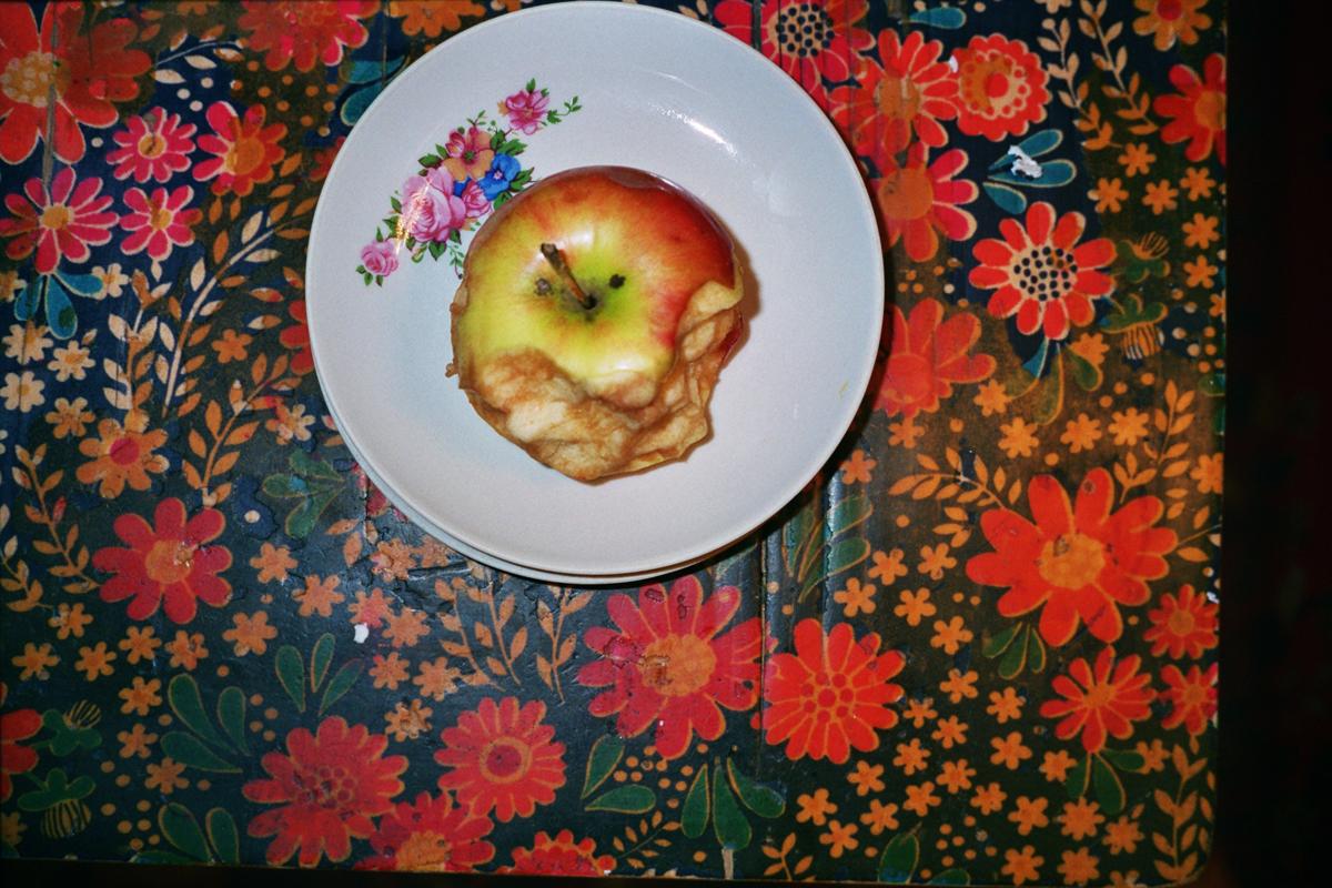 60 Half eaten apple with flowers.jpg
