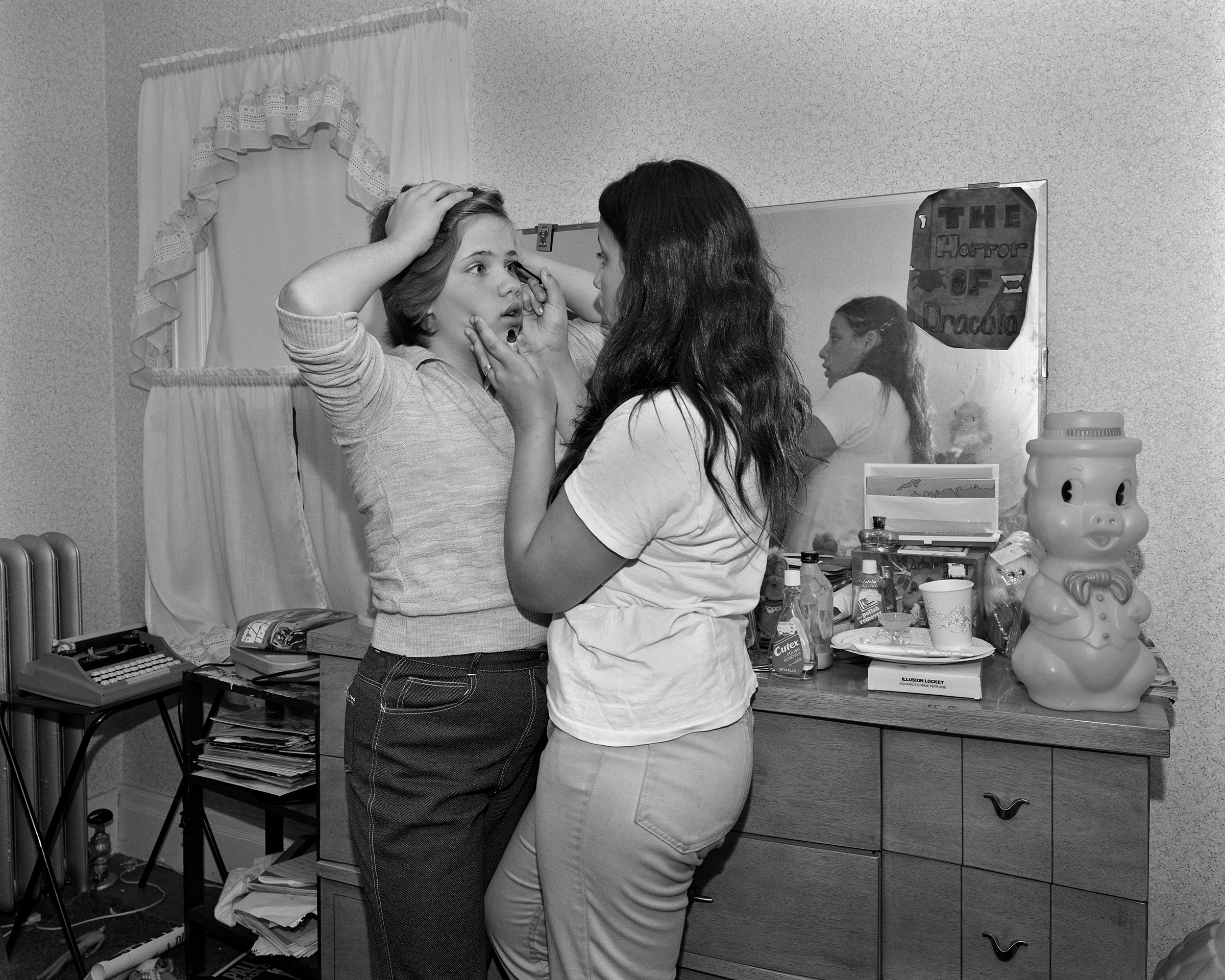 Girls Applying Mascara, Domestic Rituals (1979-83)    Mary Frey