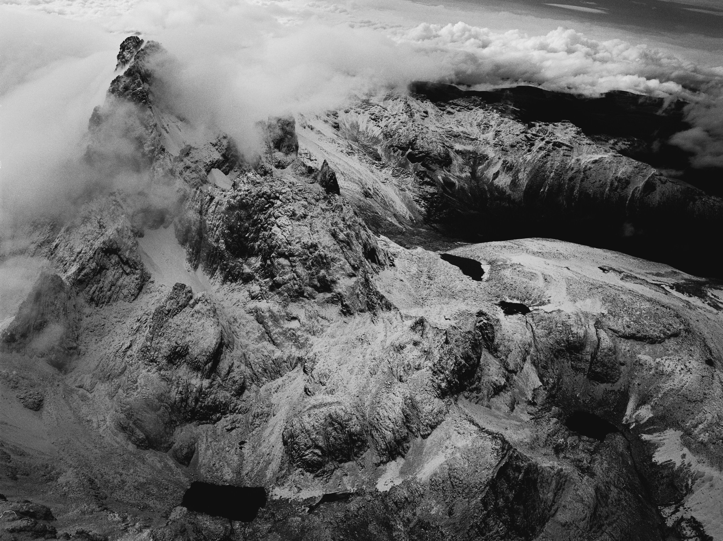 Africa's majestic second highest peak, contains the remnants of fast disappearing snowfields, Mount Kenya, 2004 © Alex Majoli Magnum Photos