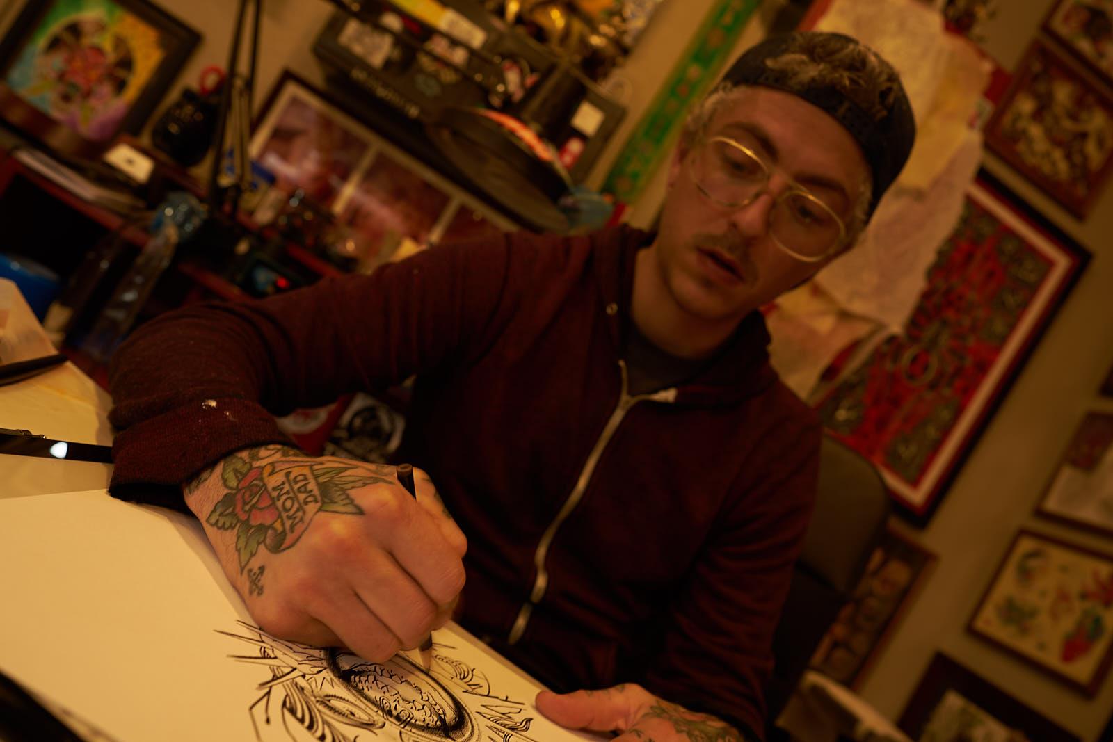 Nick Rizzano - Tattooer at Great Wave Tattoo