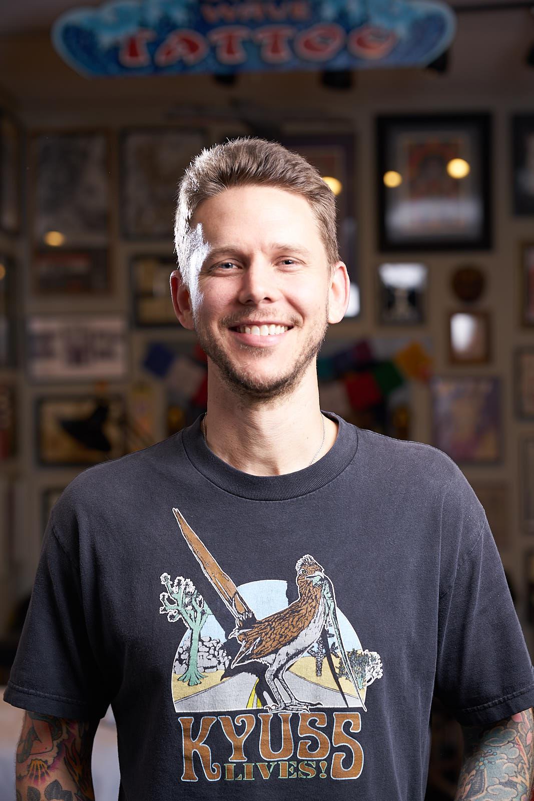 David Parker Portrait - Tattooer at Great Wave Tattoo