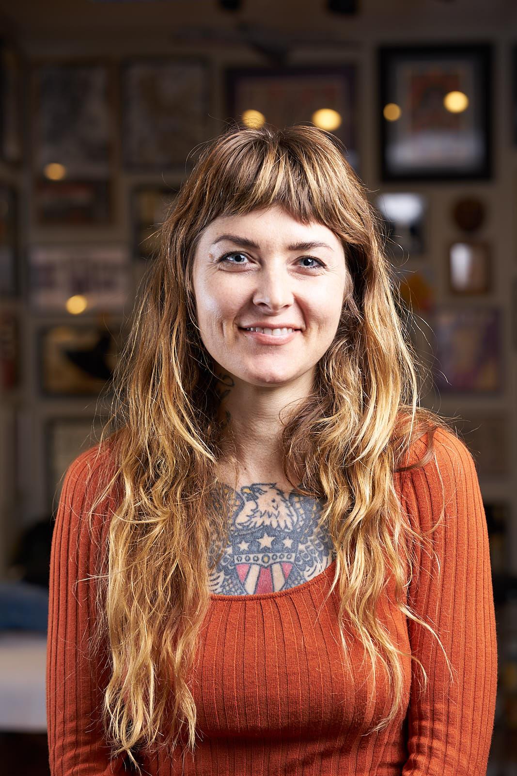 Jennalee Mahan Portrait - Tattooer at Great Wave Tattoo