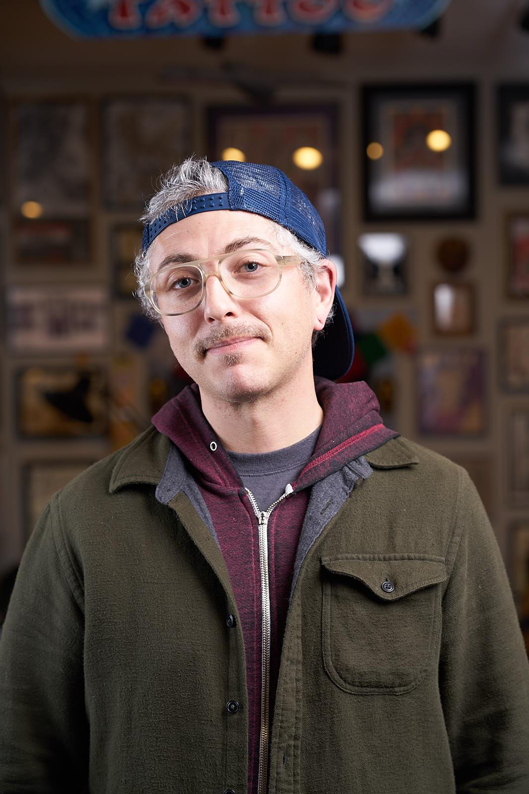Nick Rizzano Portrait - Tattooer at Great Wave Tattoo