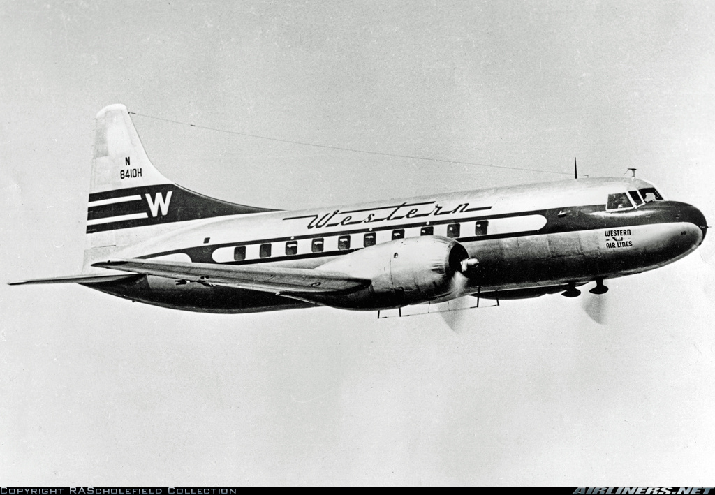 Western Airlines Convair 240-1