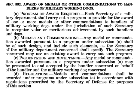 John S. McCain National Defense Authorization Act (NDAA) for Fiscal Year 2019 - Section 582