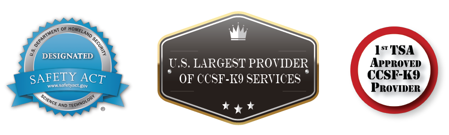 GK9PG was the first company approved to provide CCSF-K9 services and is the U.S. largest provider granted Department of Homeland Security (DHS) SAFETY Act coverage.