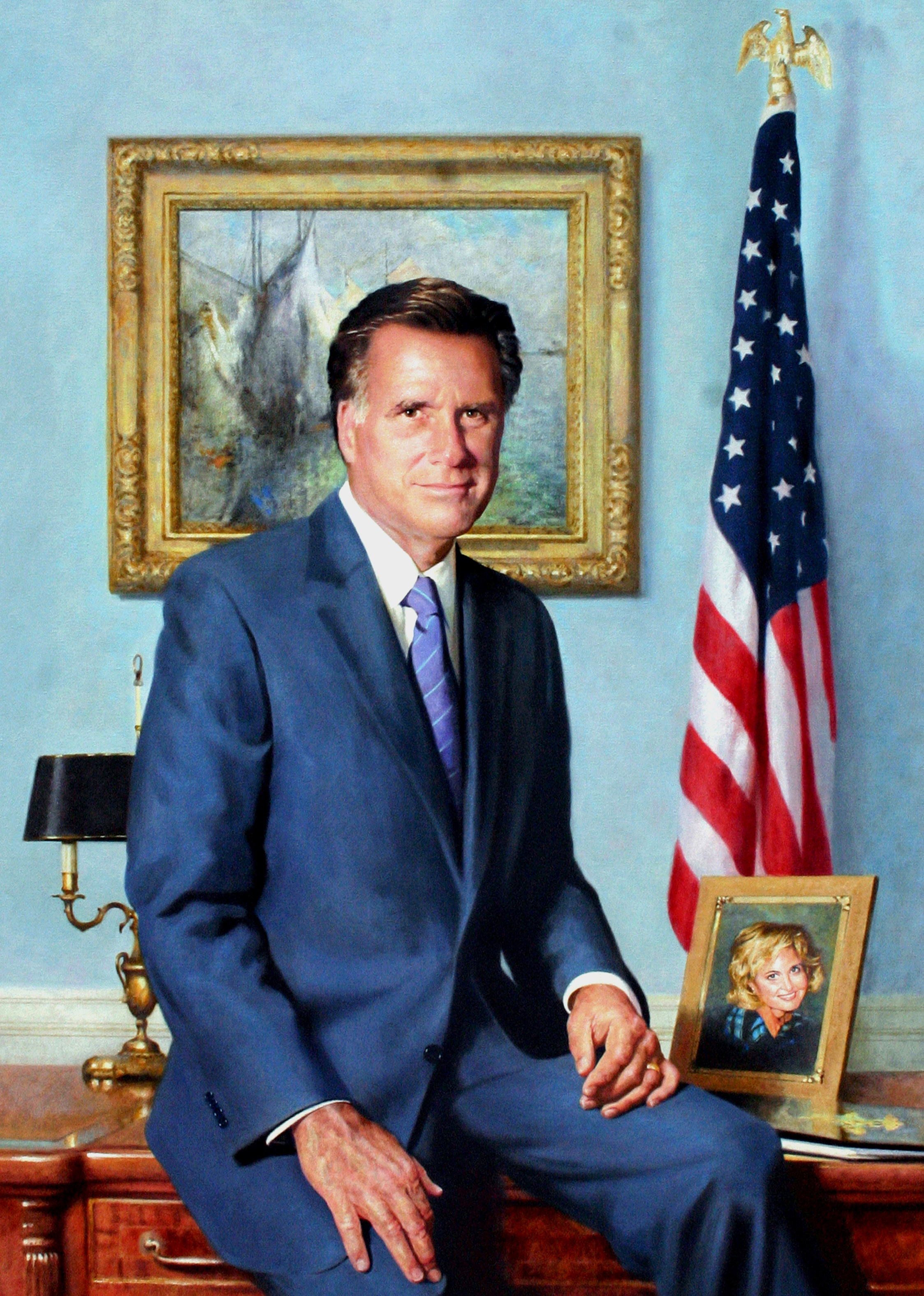 Gov. Mitt Romney, Massachusetts State House