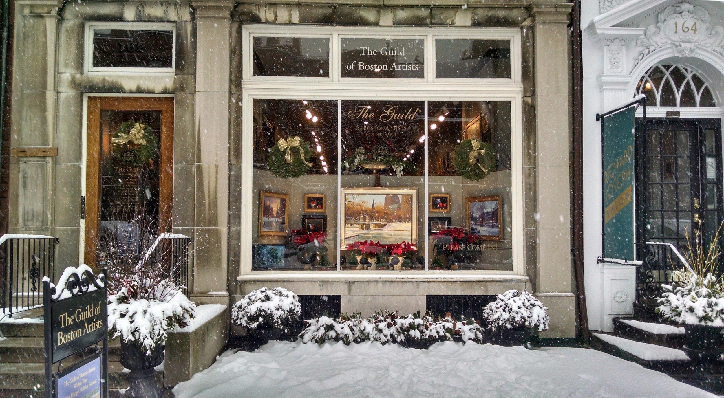 162 Newbury St. in winter