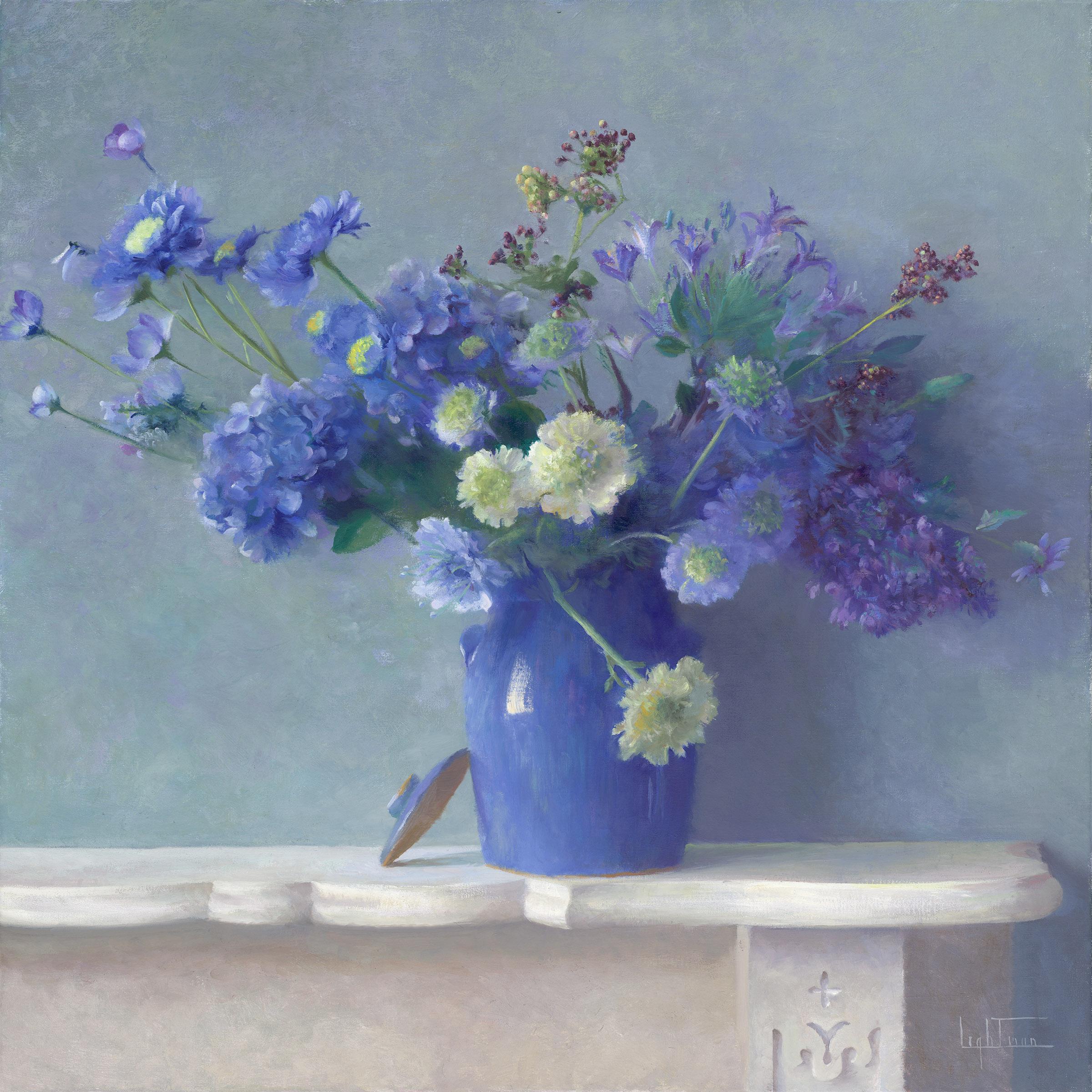 Hydrangeas, Pincushion Flowers, and Berries