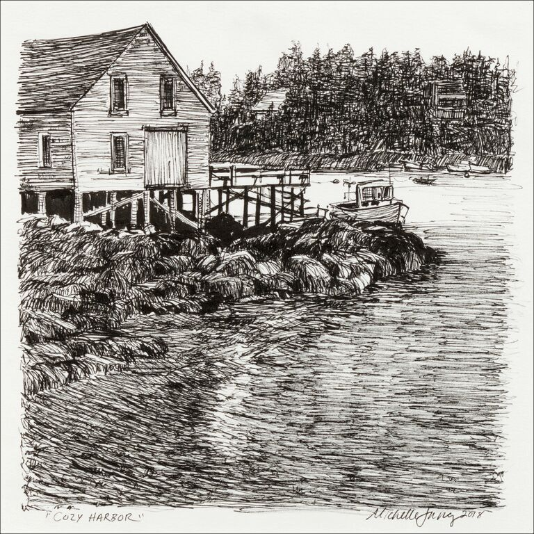 Cozy Island Harbor ~ Southport, ME