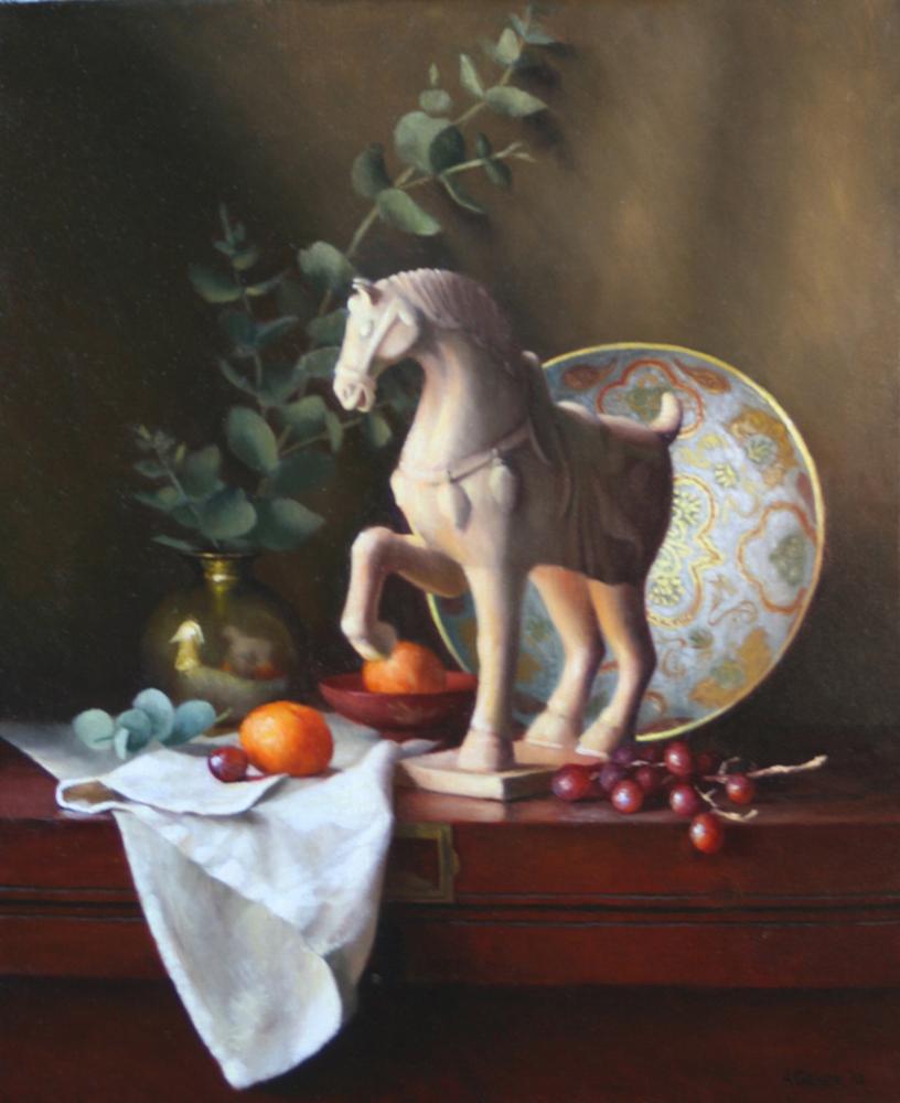 Tang Horse with Eucalyptus