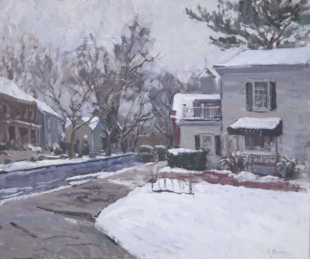 """""""Snowy Day, Madison St.""""  Viktor Butko"""