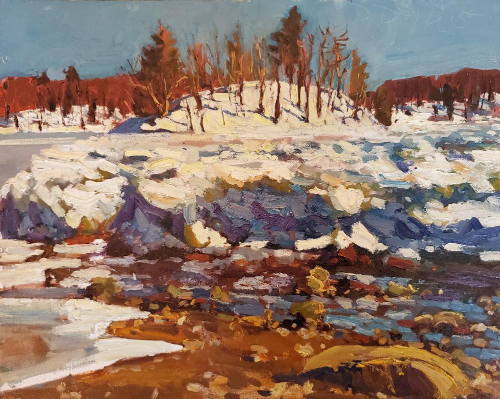 """Winter Esker Whale Island"" Dennis Doyle"