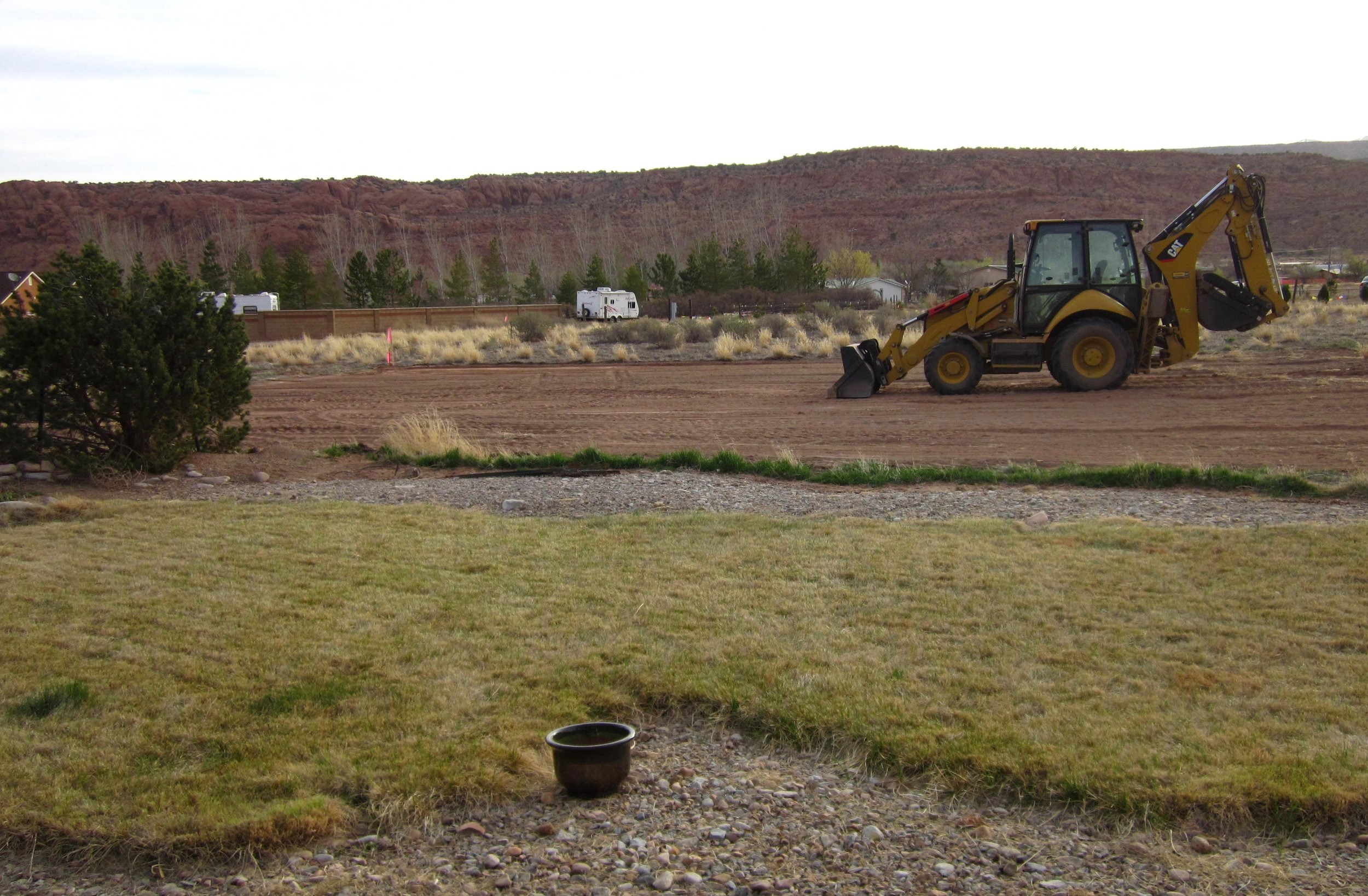 Clearing the ground to make room for my my mixed media art studio