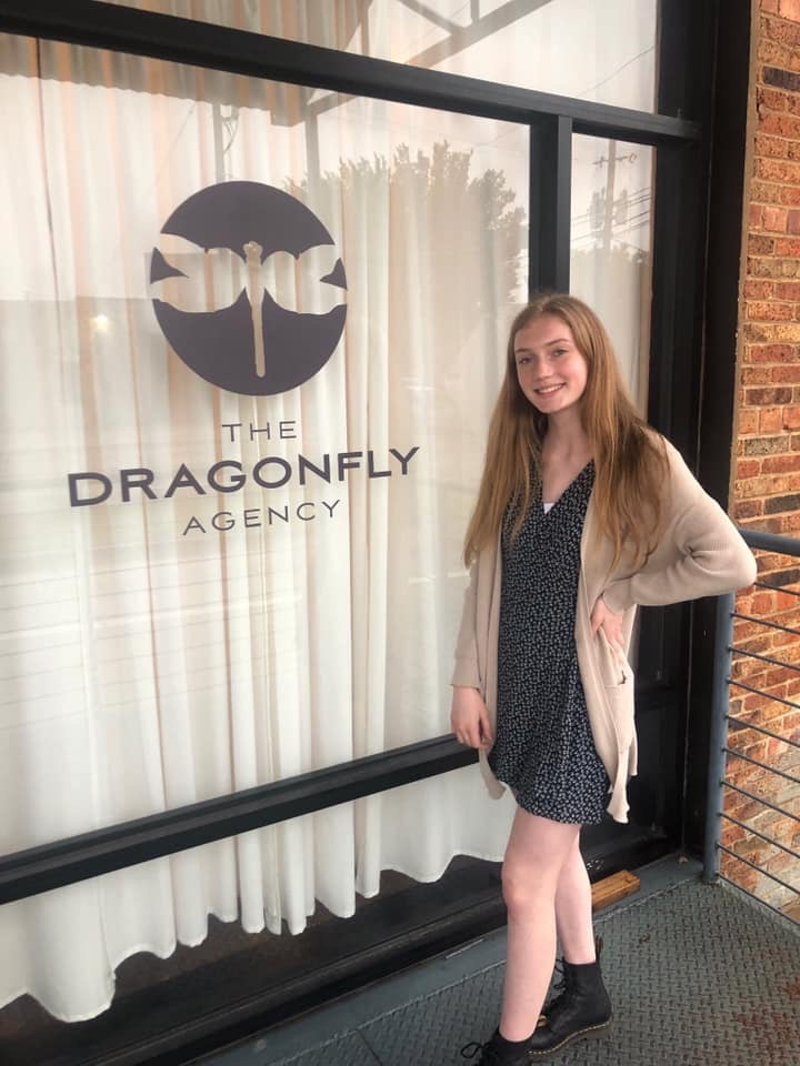 Right after getting signed with Dragonfly Agency in Dallas, Texas!
